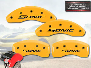 2013 2016 Chevy sonic Rs Ltz Front Rear Yellow Mgp Brake Disc Caliper Covers