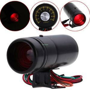 Black 1000 11000 Adjustable Tachometer Rpm Tacho Gauge Shift Light Lamp Red Led