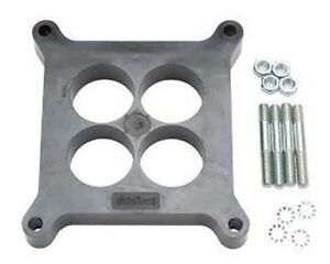 Edelbrock 8711 Edelbrock Holley Carbs Black Phenolic Carb Spacer 1 inch 4 hole