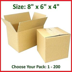 8x6x4 Cardboard Packing Mailing Gift Moving Shipping Boxes Corrugated Box Carton