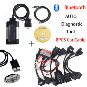 Bluetooth Tcs Cdp Pro Plus For Autocom Obd2 Diagnostic Tool 8pcs Car Cable New