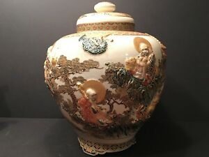 Antique Japanese Large Imperial Satsuma Vase Meiji Period Signed