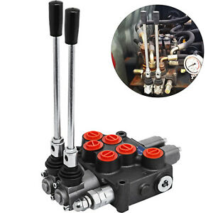 2 Spool 8 Gpm Mb21bb5c1 Hydraulic Control Valve Double Acting 9 7862 Adjustable