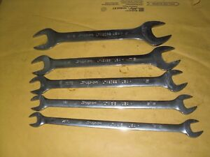 Snap On Lta 5pc Low Torque Slimline Open End Wrench Set Sae 7 16 1 Usa