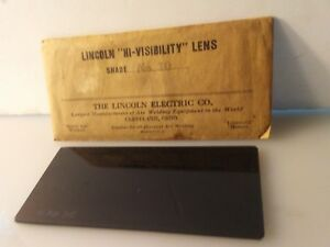 Vintage Welding Lens General Electric 10 Shade Hood Rare 2 X 4 1 2 Ge