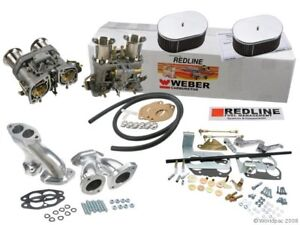 Weber Carburetor Kit Vw Bug Type 1 Dual 44 Idf Redline Kit W Genuine Webers