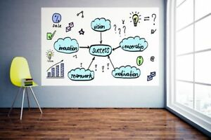 4 x8 Dry Erase Board Stick On Wall Self Adhesive Decal