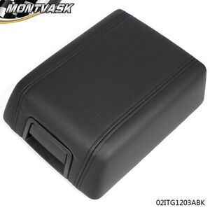 New Center Console Arm Rest Lid Cover Pad Black Leather For 2004 2008 Ford F150