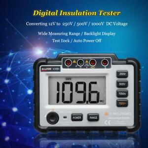 Lcd Backlight Vc60b Digital Insulation Resistance Tester Megohm Alarm Multimeter