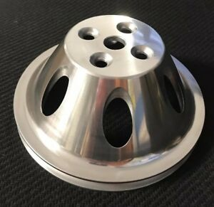 Big Block Chevy Aluminum Water Pump Pulley Swp Single Groove Polished