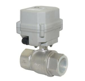Dc 24v Motorized Ball Valve Npt 1 1 4 Electrical Valve cr2 02 stainless Steel