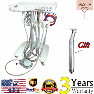Usa Dental Delivery Unit Mobile Teatment Cart Equipment High Speed Handpiece Fda