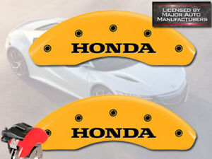 1996 2000 honda Civic Ex Front Yellow Mgp Brake Disc Caliper Covers 2pc Set
