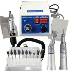 Dental Marathon 35k Rpm Micro Motor Polisher Handpiece Machine 10x Drill Burs Us
