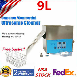 Digital Stainless Steel Industry Heated Ultrasonic Cleaner Heater Timer 9l 240w