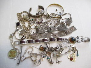 Scrap Recovery Sterling Silver Jewelry Lot 326 Grams