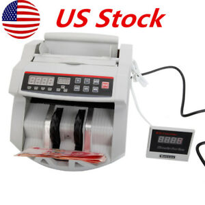 Portable Bill Counter Money Counting Machine Cash Currency Banknote Uv Mg Us
