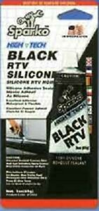 Sparko Brand Rtv Black Silicone 3 5 Oz Tubes Individually Boxed Case Of 144