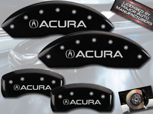 1999 2004 Acura Rl Front Rear Black Engraved Mgp Brake Disc Caliper Covers