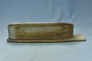 Antique Primitive Tractor Tool Box Metal Wood Shabby Chic Homemade Old 06445
