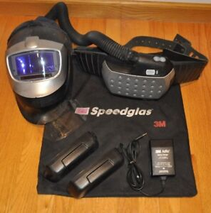 3m Speedglas 9002x Welding Helmet Adflo Respirator Hood 2 Batteries And Charger