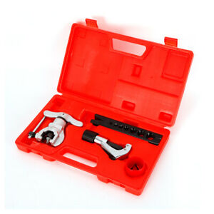 Eccentric Cone Type Tube Flaring Tool Kit 1 4 3 4 Tubing 7 Dies Sizes 45 Angle