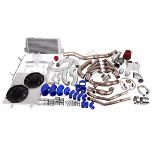 Cxracing Turbo Header Manifold Intercooler Kit For 05 14 Ford Mustang 4 6l V8
