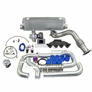 Turbo Kit For 1996 2000 Honda Civic Ek B16 B18 B20 Cast Manifold Oil Return Line