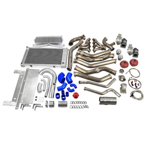Cx Twin Turbo Header Intercooler Radiator Piping Kit For 68 72 Chevelle