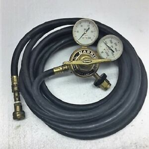 Harris 3500 125 347 Manifold Welding High Flow Pressure Regulator Gauge 25 Hose