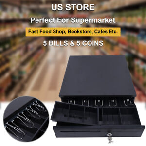 5 Bill 5coin Cash Register Drawer Box Works Compatible Epson star Pos Printer