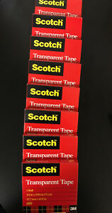 8 Rolls Scotch Transparent Clear Finish Tape 1 2 X 2592 Inches 3 Inch Core