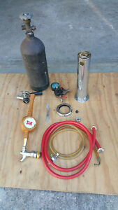 Tower Kegerator Conversion Kit With Co2 Tank Vintage Miller High Life Handle