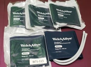 Welch Allyn 901043 Reusable Blood Pressure Cuff Adult Lot Of 5