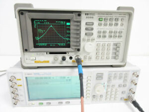 Hp 8591e 1 8 Ghz Spectrum Analyzer Opt 043 101 102 301 Agilent