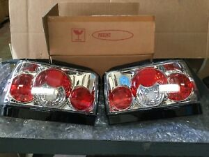 1993 1997 Toyota Corolla Chrome Rear Tail Lights Pair