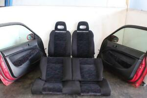 Jdm 1996 2000 Honda Civic Ek4 Sir Front And Rear Seats With Rails Black And Red