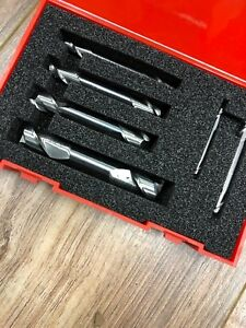 Accupro 1 8 To 1 2 4 Flute Square End Mill Set Uncoated Solid Carbide Dou