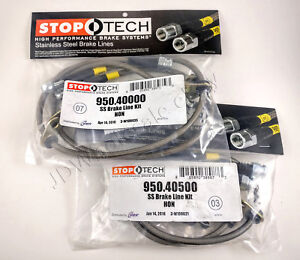 Stainless Steel Front Rear Brake Lines For 94 01 Acura Integra Db Dc Stoptech