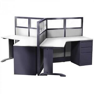 3 Person Cubicle Workstation Emerald 8x9x52 h Seats 3