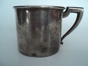 Sterling Silver Baby Childs Cup Mug Engraved Tommy