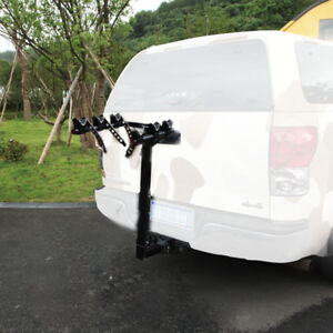 3 Bike Bicycle Carrier Car Truck Suv Foldable Trunk Mount Rear Rack W Straps