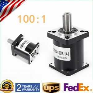 Planetary Reducer Gearhead Nema 23 Stepper Motor Gearbox Ratio 100 1 High Torque