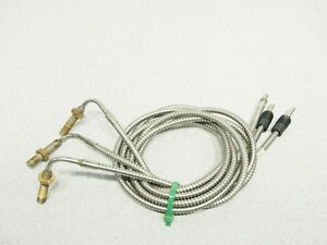 Lot Of 3 Banner Engineering Iat23s Fiber Optic Sensor Cable Tested