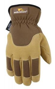 Men s Deerskin Winter Work Gloves Very Warm 100 gram Thinsulate Ultra