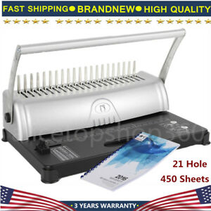 21 Holes Binding Machine Paper Punch Binder With 3 8 Square Hole Storage Filing