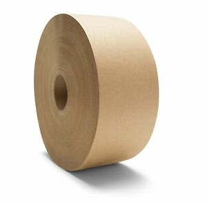 Brown Kraft Paper Gummed Tape 3 X 450 Water Activated Industrial Grade 80 Rls