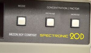 Spectronic 20d Digital Spectophotometer Powers On