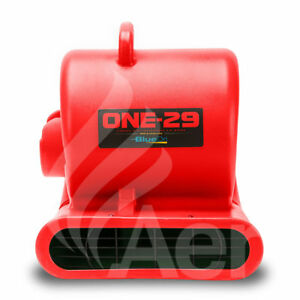 Bluedri One 29 Air Mover Carpet Dryer Blower Floor Fan High Cfm Low Amps Red