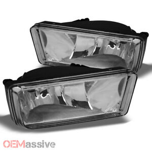 Fits 07 13 Silverado Suburban Tahoe Avalanche Bumper Clear Fog Lights W Bulbs